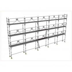 Echafaudage DUO 45 lot de 128m² structure seule